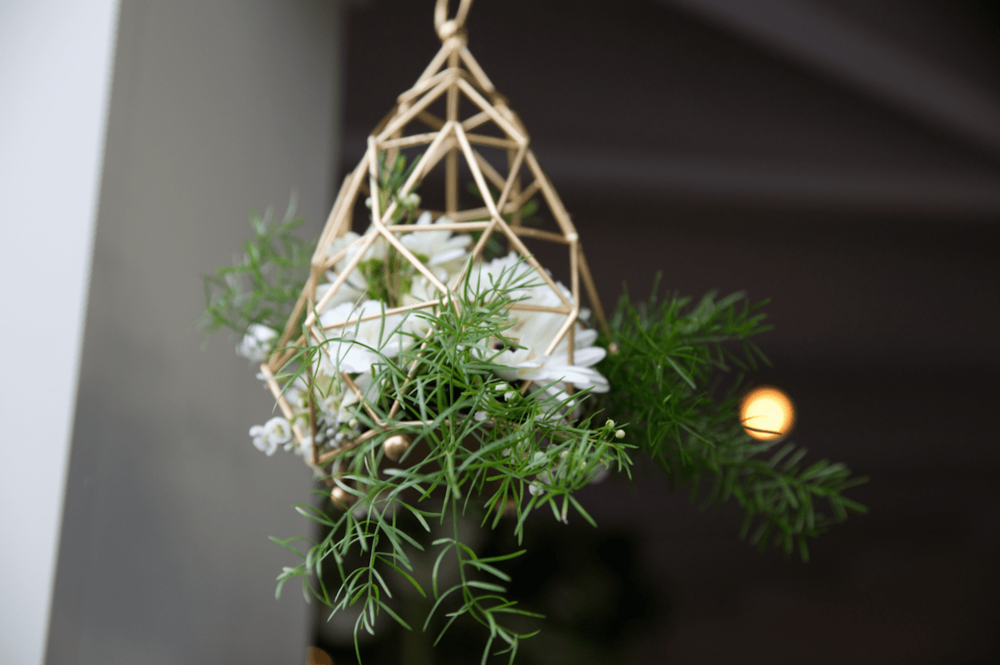 Geometric hanging installation - B Floral