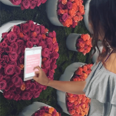 Interactive Floral Wall For Tinder- B Floral