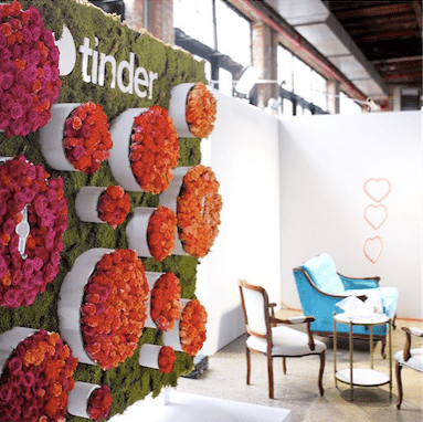 Interactive Floral Wall For Conference- B Floral