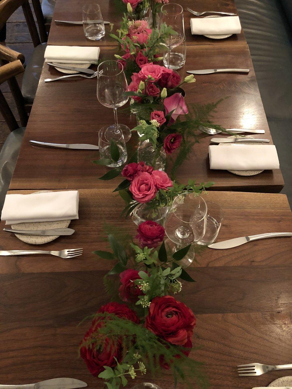 Ómbre Bud Vases- B Floral