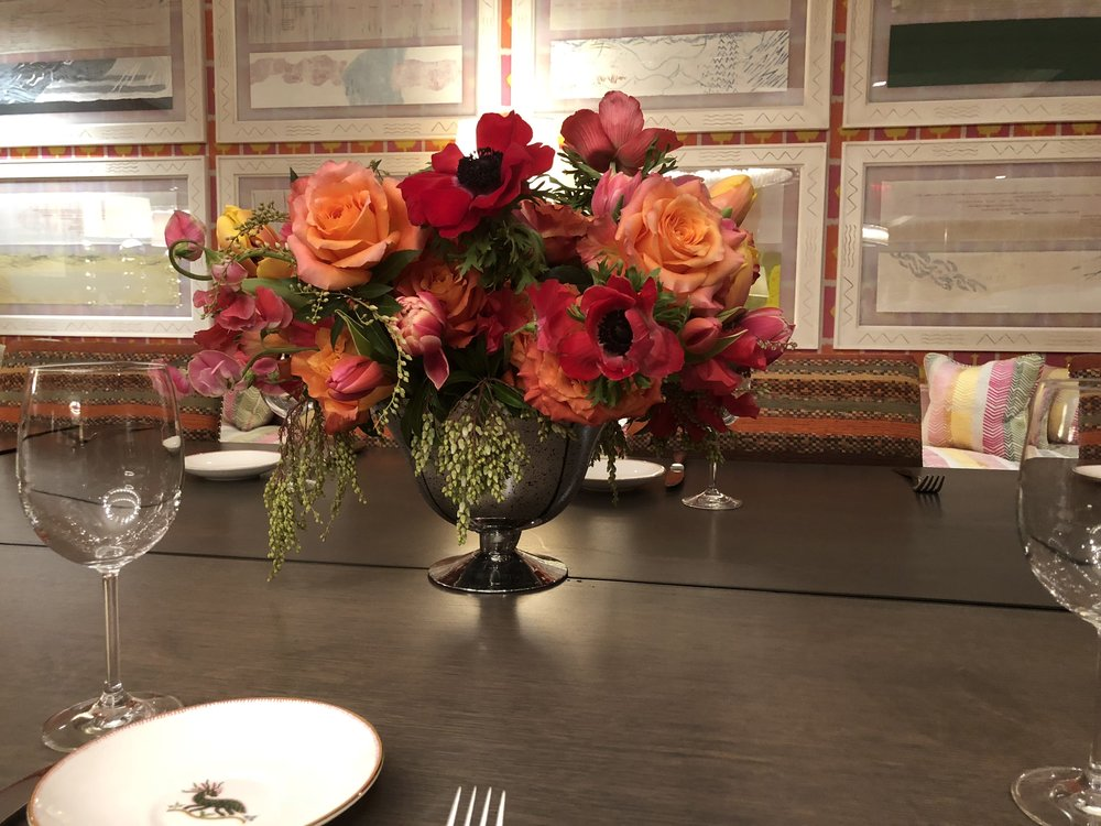 Overflowing colorful Centerpieces- B Floral