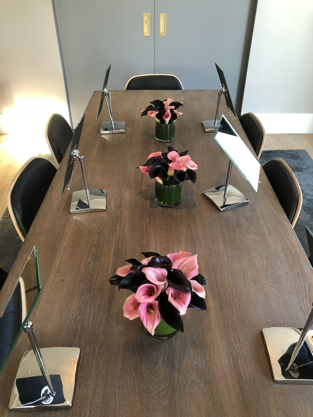 Calla Lily Table Runner For A Redken NYFW Suite- B Floral