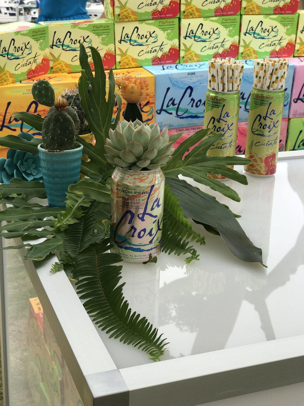 La Croix Cans & Succulents- B Floral