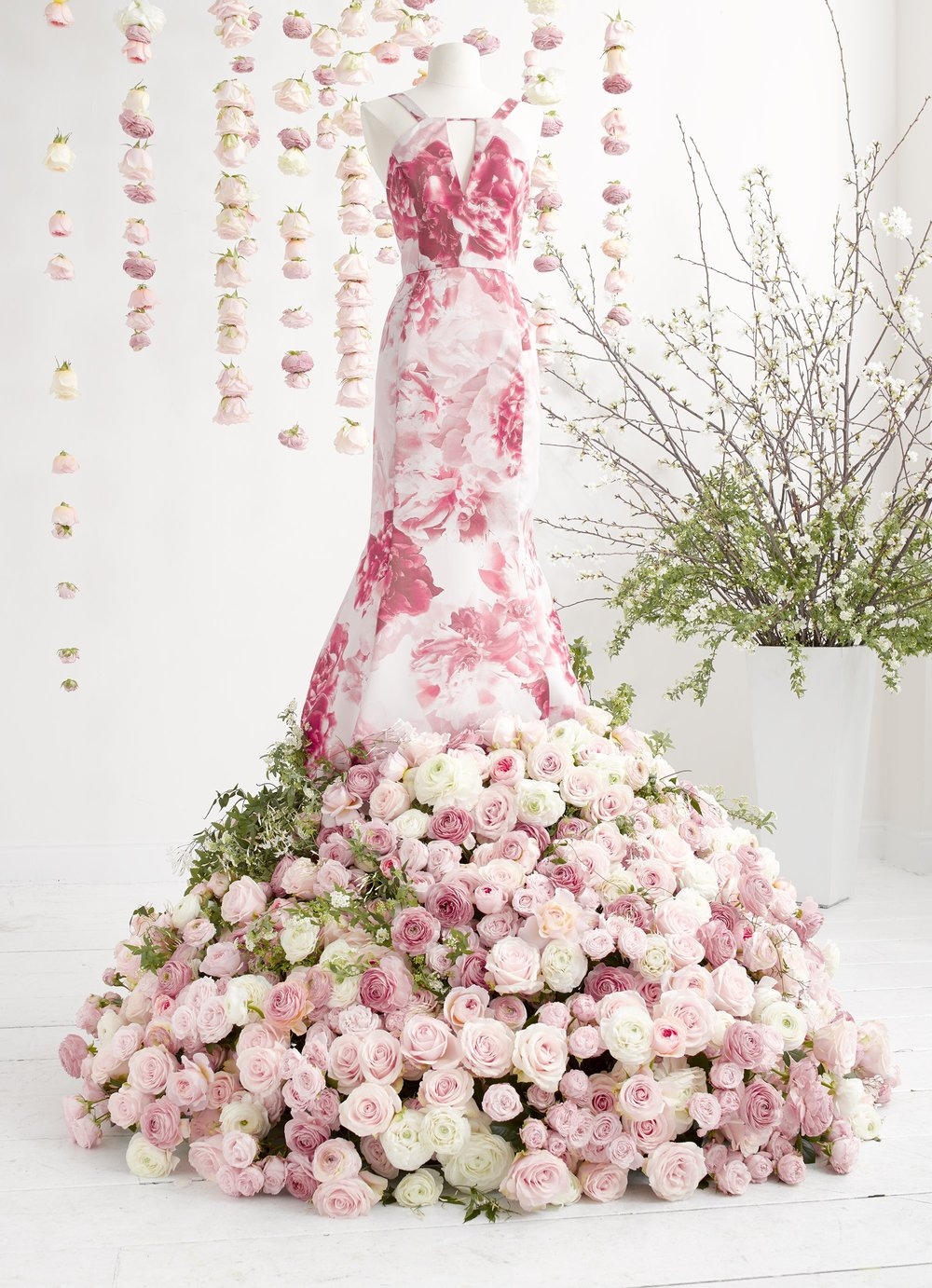 Adrianna Papell Floral Dress Installation- B Floral