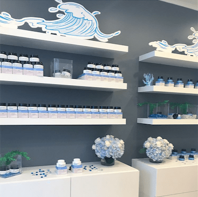 Belif Light Blue Product Display- B Floral