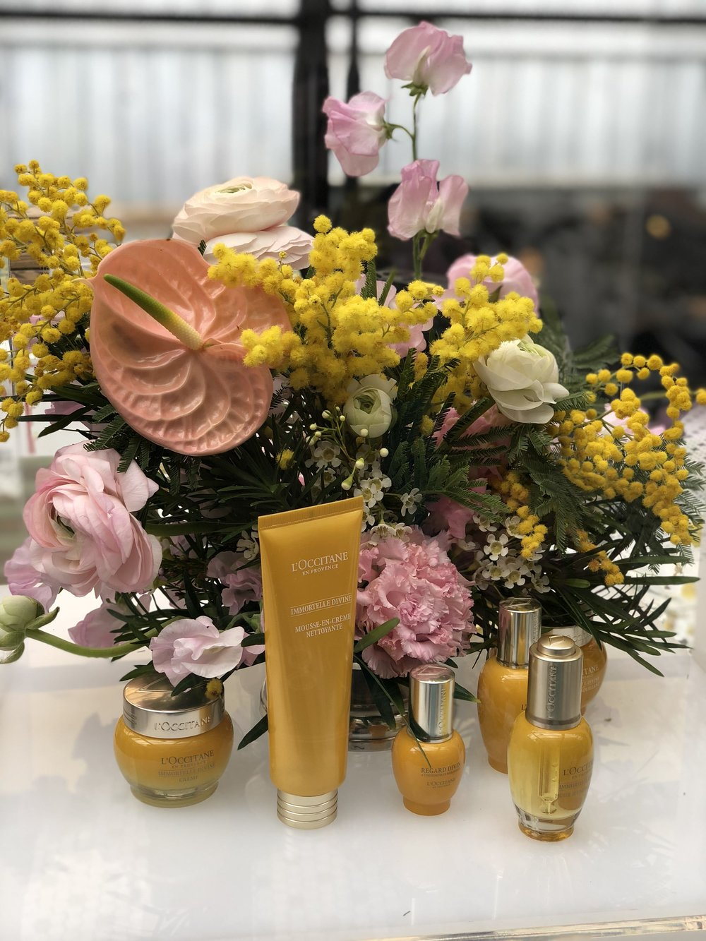 L'Occitane Vibrant Yellow Display- B Floral