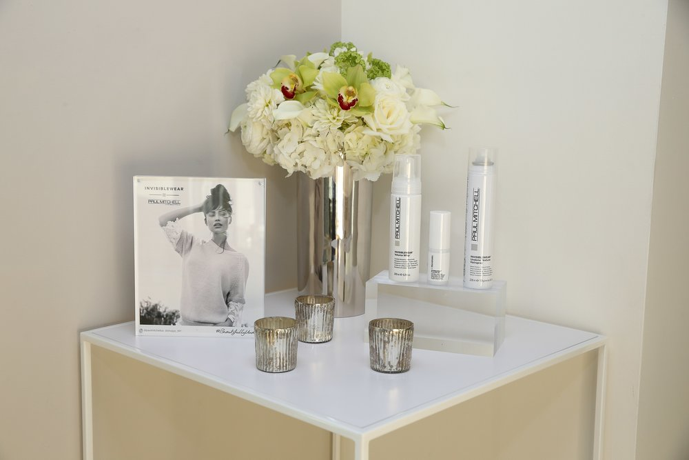 Paul Mitchell White & Silver Product Display- B Floral