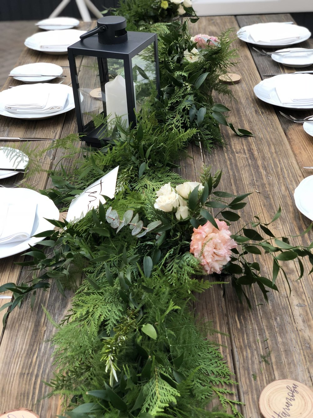 Greenery Table Runner For Bareminerals- B Floral