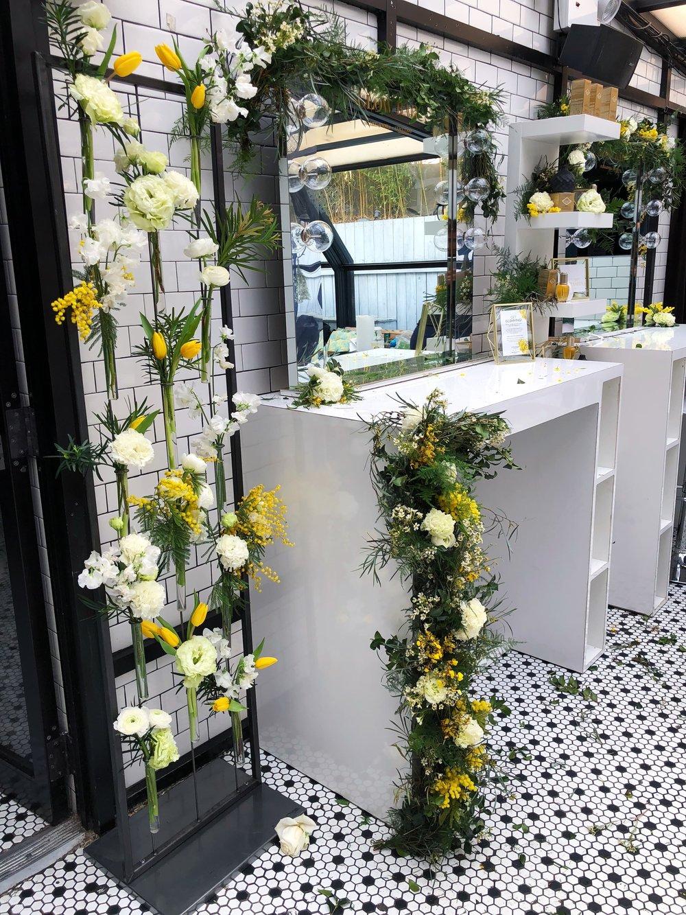 Vanity Mirror Garland-  B Floral