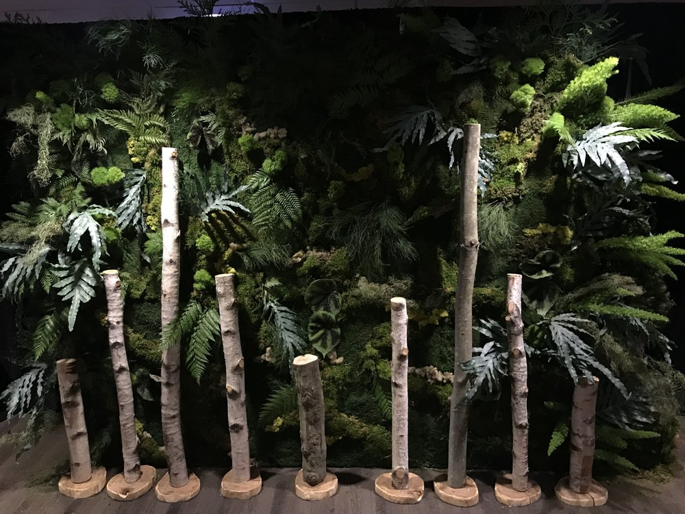 Live Nation's Justin Timberlake Concert Greenery Wall- B Floral