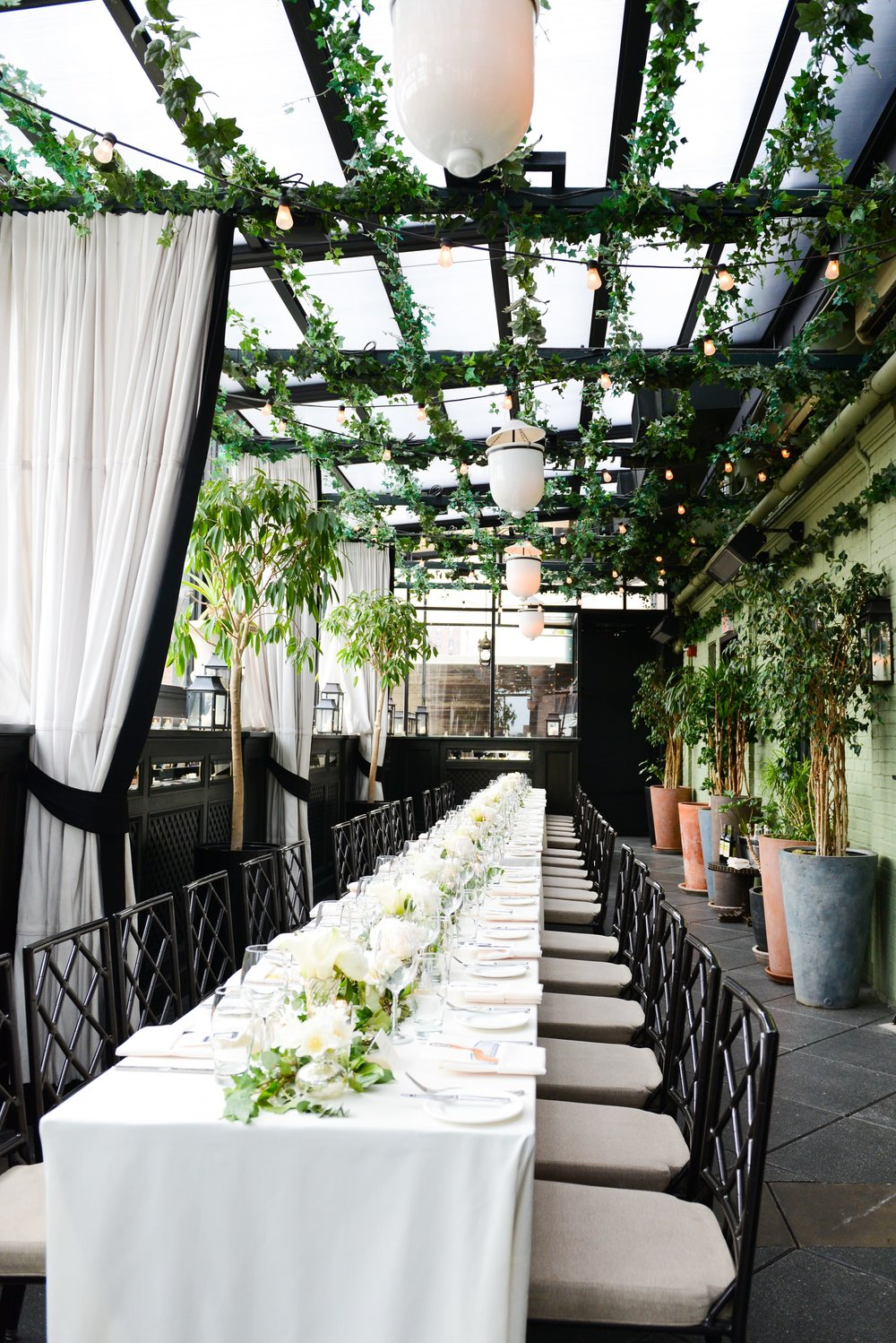 Greenery Terrace Dinner Reception- B Floral