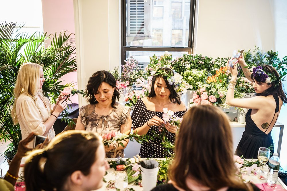 Interactive Flower Crown Station- B Floral