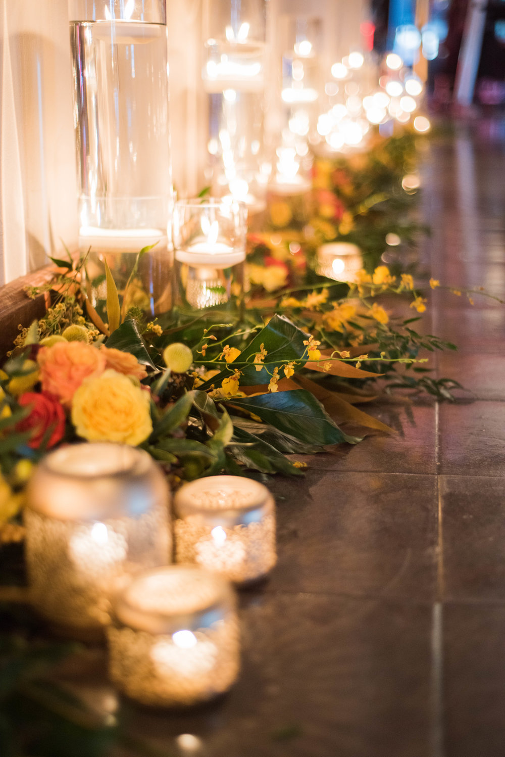 Candle & Greenery Walkway- B Floral