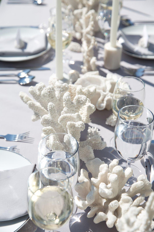 Coral Tablescape Details- B Floral