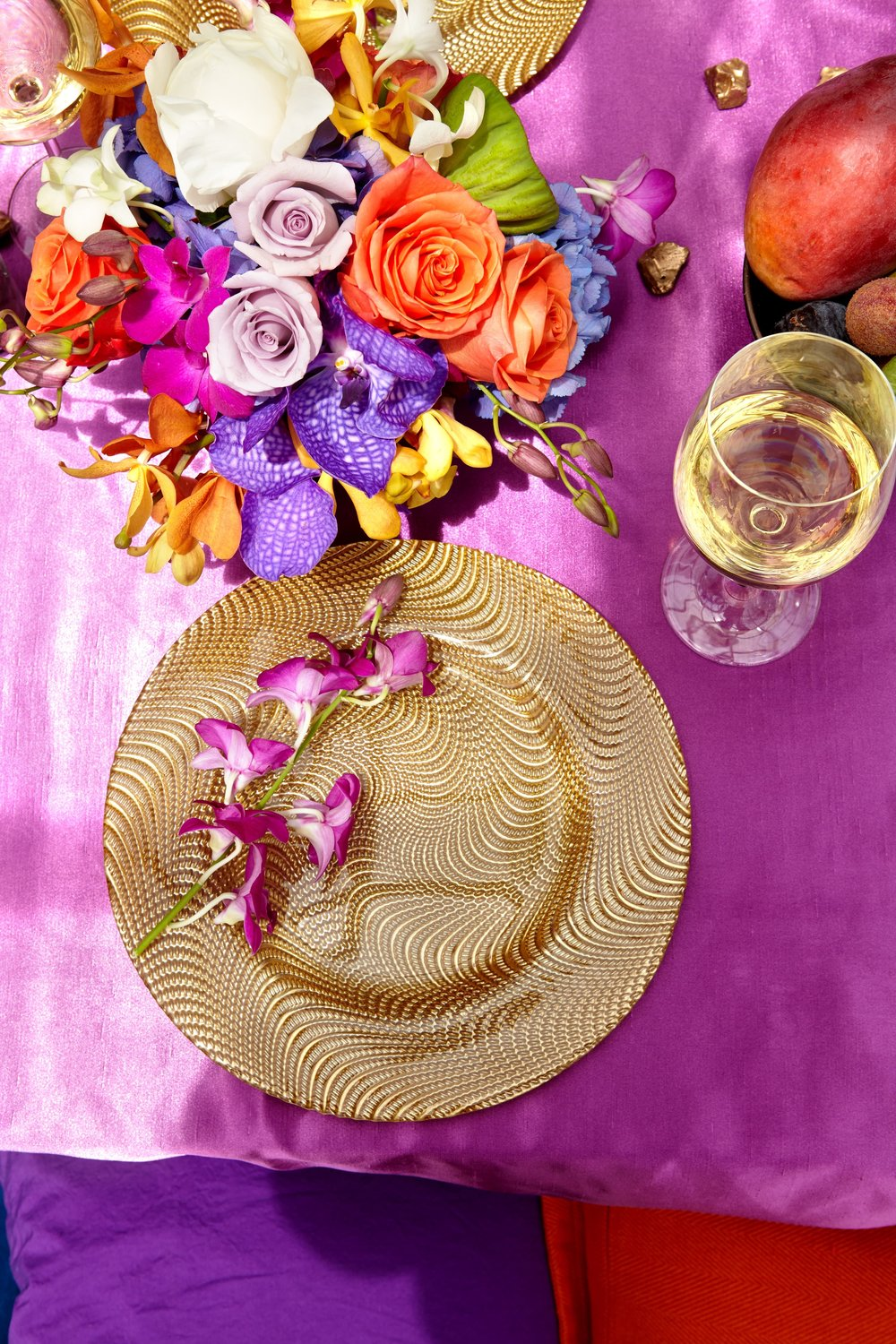 Exotic Table Setting- B Floral