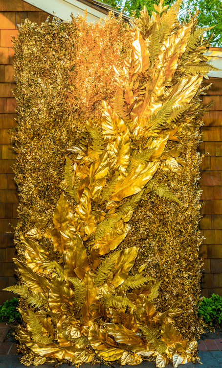 Gold Palm Wall - B Floral