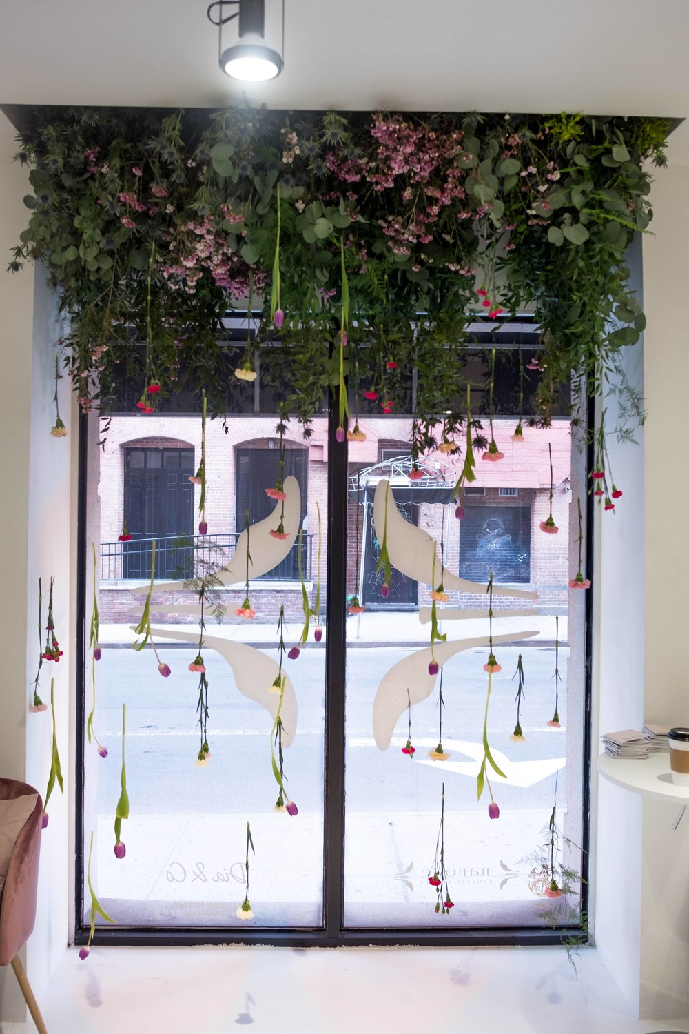 Hanging Installation At Dia&Co Pop-up- B Floral