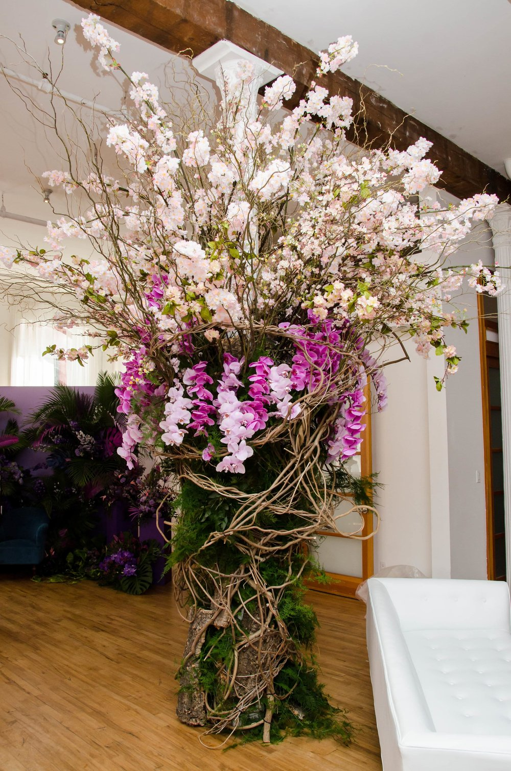 Statement Cherry Blossom & Orchid Installation- B Floral