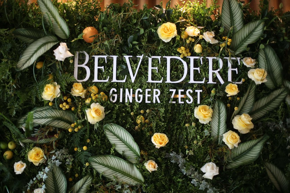 Belvedere Vodka Flower Wall- B Floral