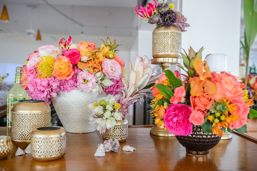 Bar Arrangements In Bold Summer Hues- B Floral