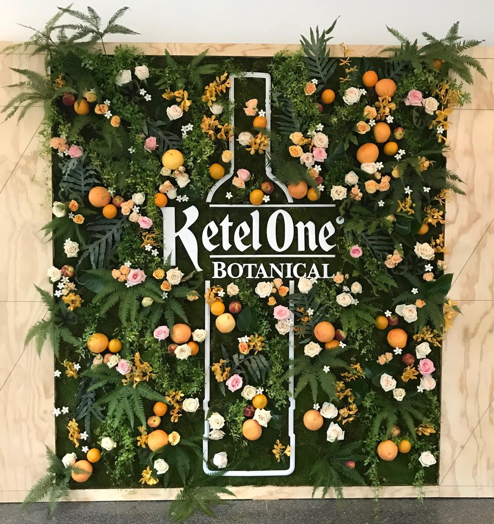 Ketel One Botanical Floral & Fruit Wall-  B Floral