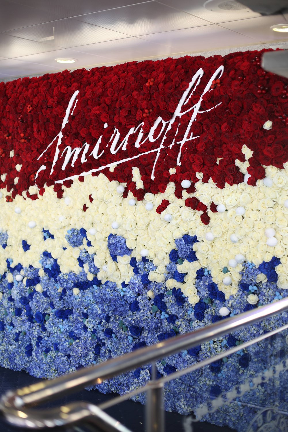 Smirnoff Red, White & Berry Wall- B Floral
