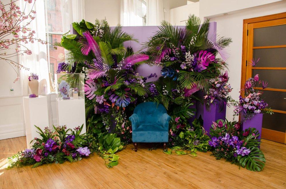 Purple Tropical Photo Moment- B Floral