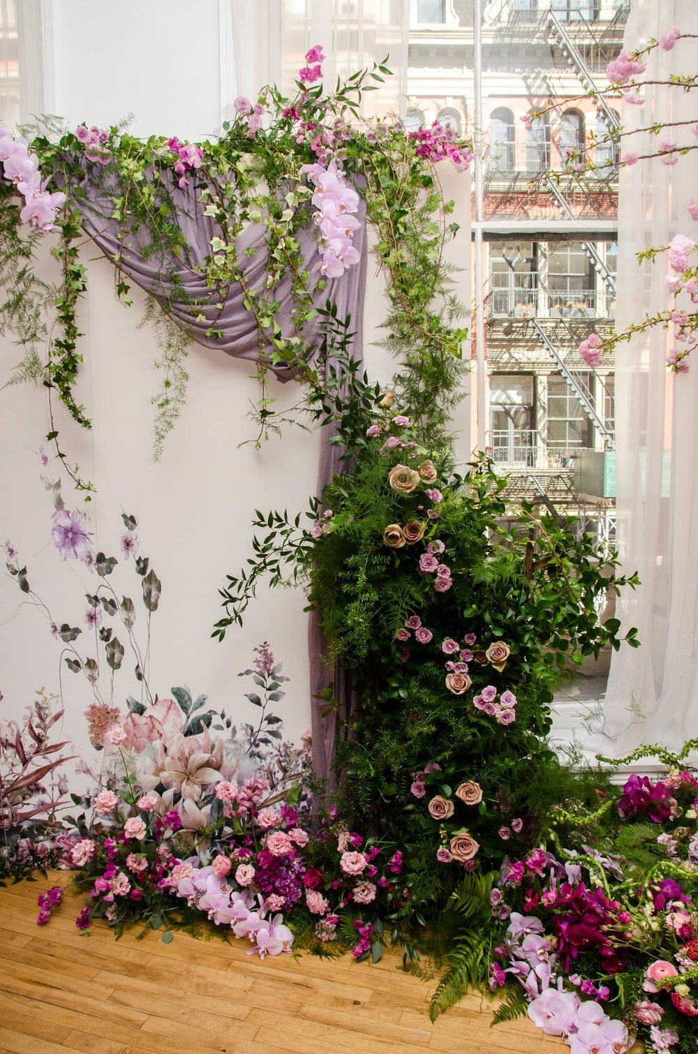 Whimsical Photo Backdrop- B Floral
