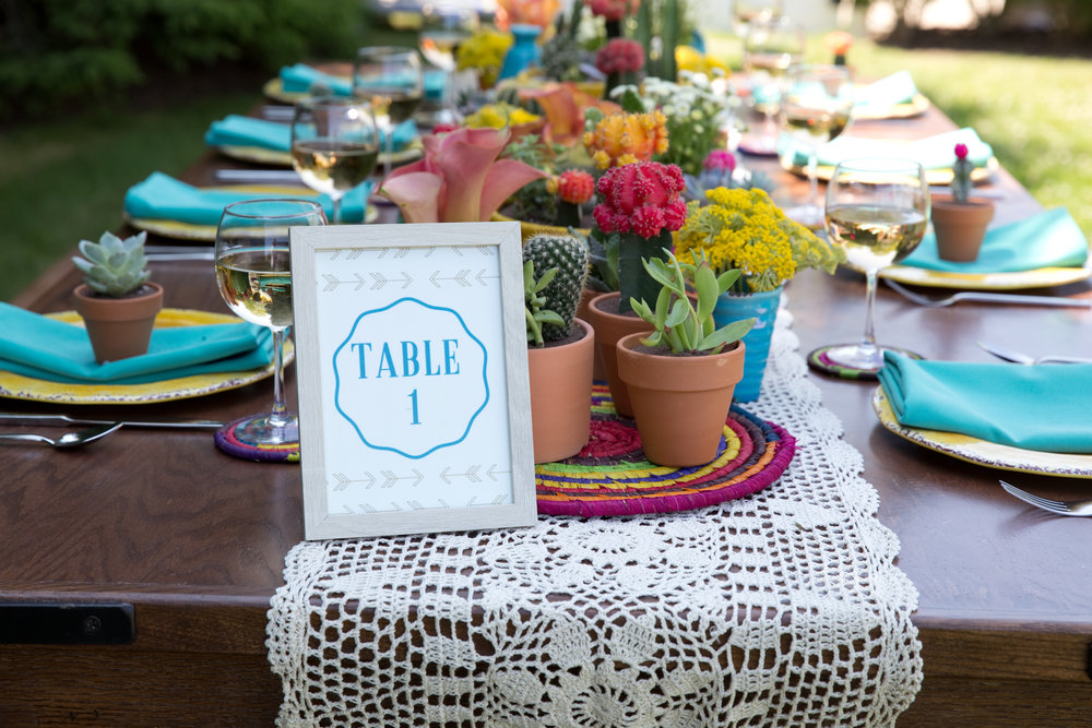 B Floral Colorful Table Scape