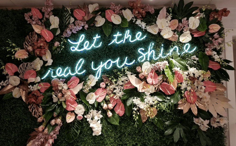 Floral Wall For Aerie Event- B Floral
