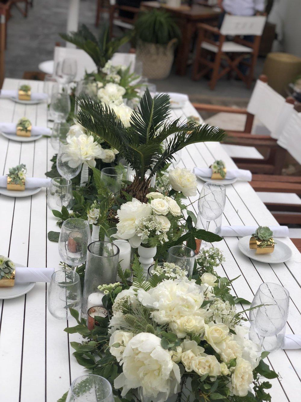 Hamptons Magazine x Nikki Beach Tablescape Details- B Floral