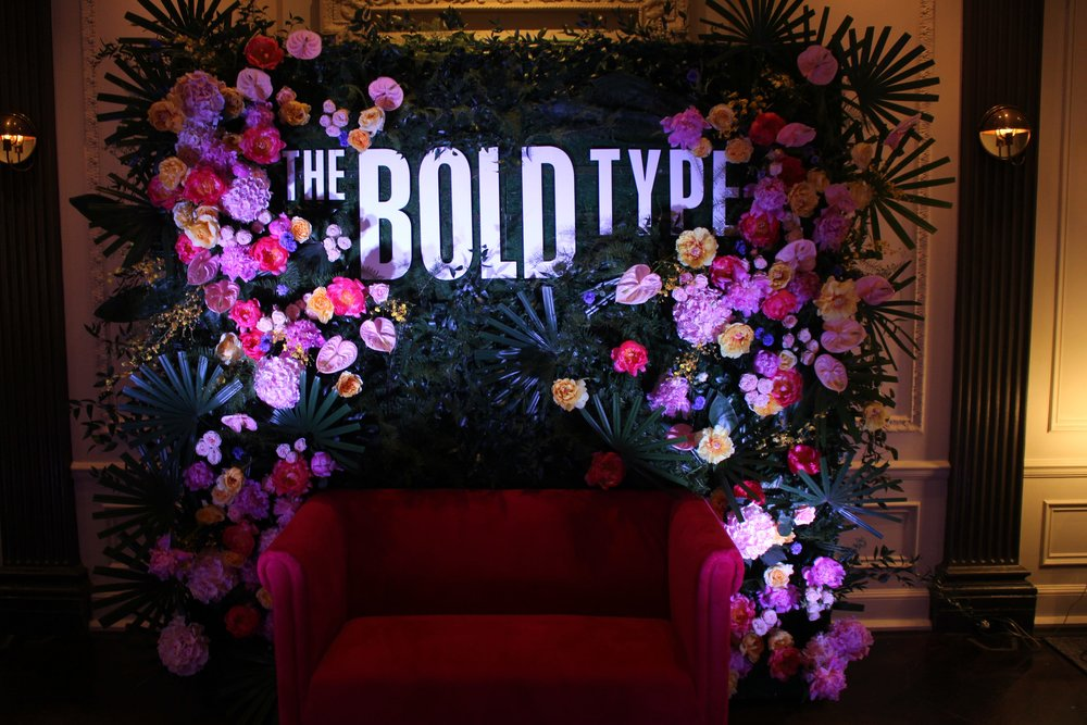 Bold Flower Wall for The Bold Type Premiere- B Floral