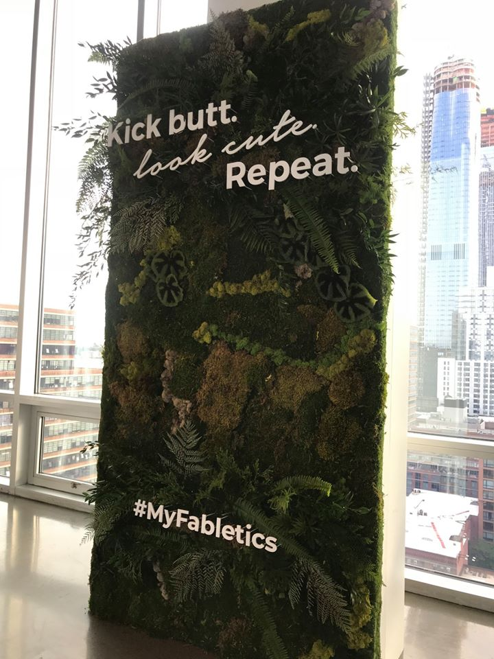 Fabletics Press Preview Greenery Wall- B Floral