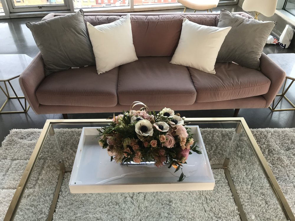 Fabletics Press Preview Lounge Arrangement- B Floral