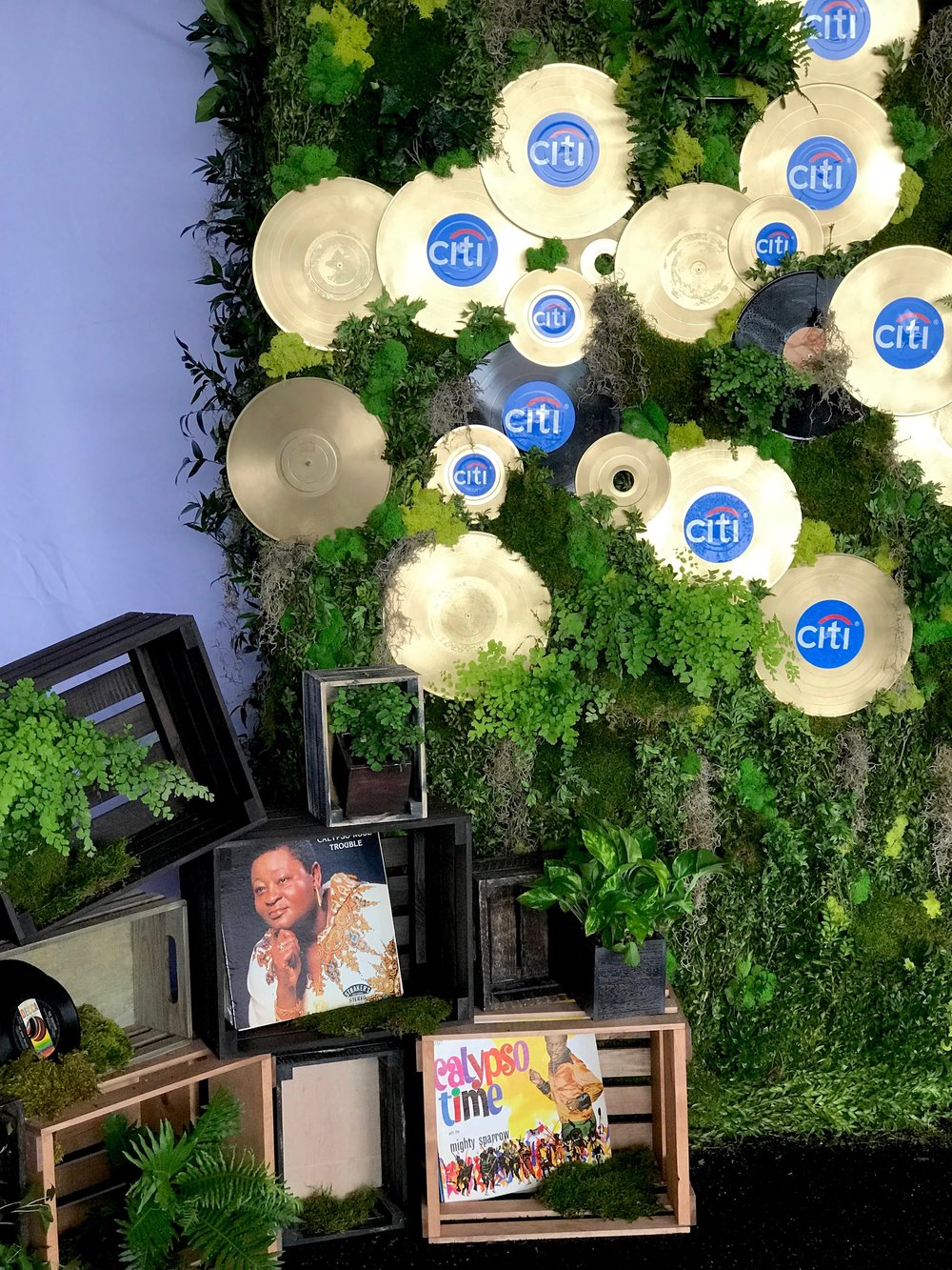 Citi Governor's Ball Moss Wall- B Floral