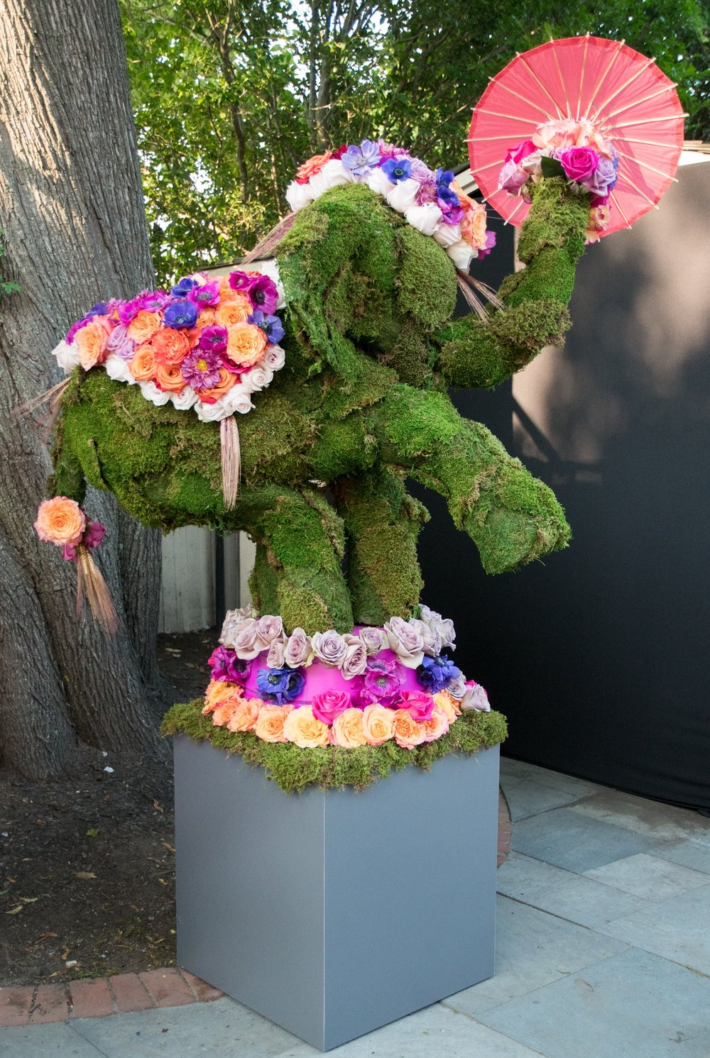 Circus Themed Floral Elephant- B Floral