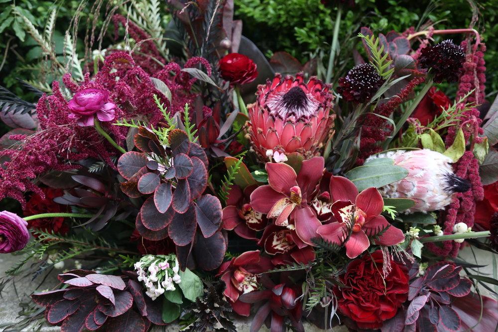 B Floral NYC Maroon Flowers; Reward Style