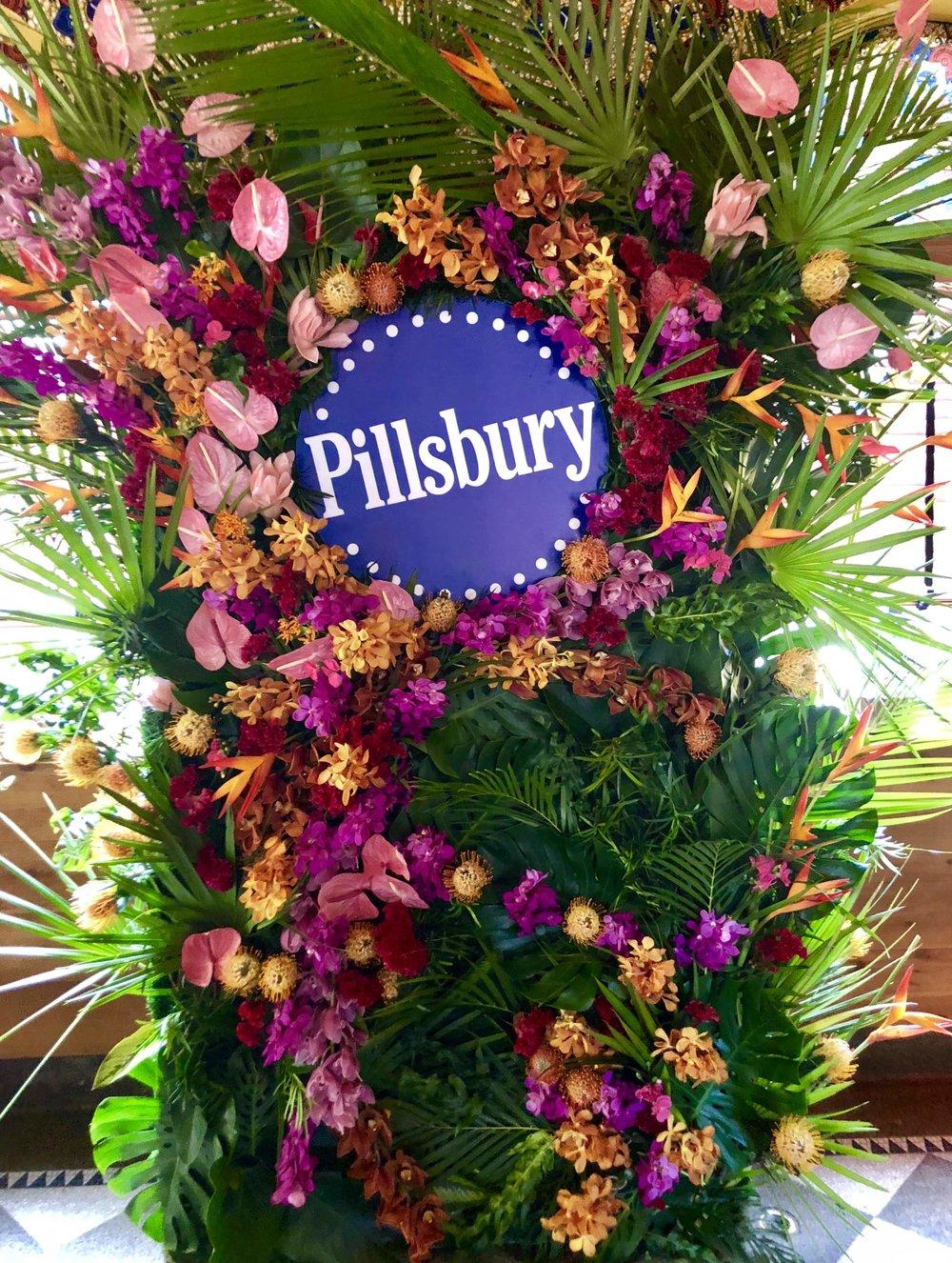 Pillsbury Sweet Hawaiian Roll Wall- B Floral