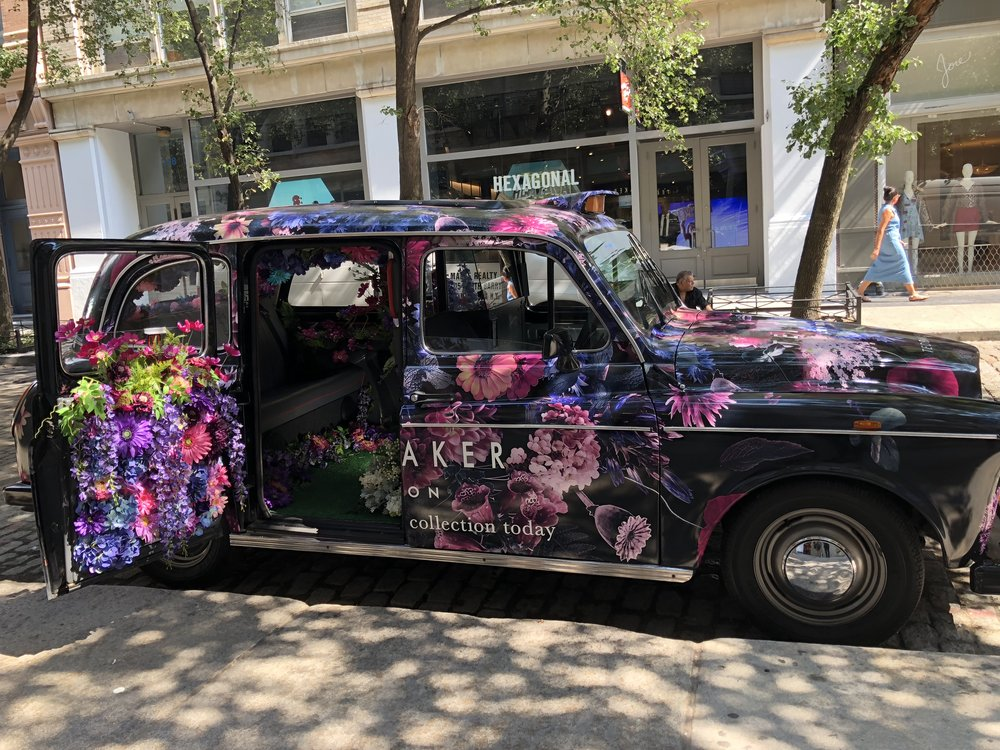 Ted Baker Taxi Installation- B Floral