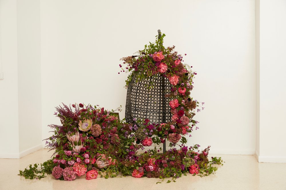 Floral Swinging Chair Installation- B Floral