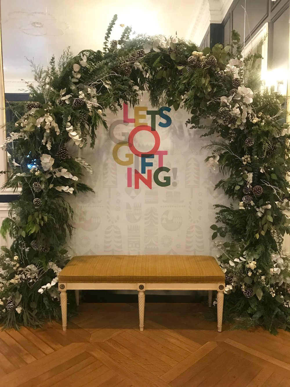 Holiday Arch Photo Moment for Nordstrom- B Floral