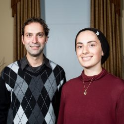 Professor Sinapov and Amel, Image from https://provost.tufts.edu