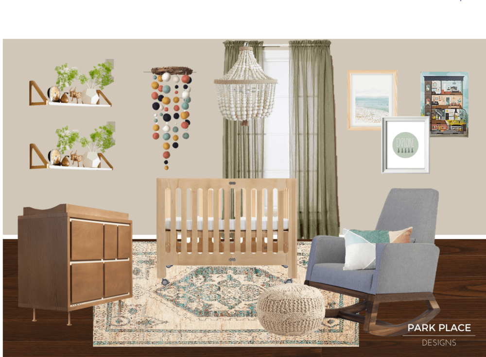 green-nursery-gender-neutral-virtual-interior-design