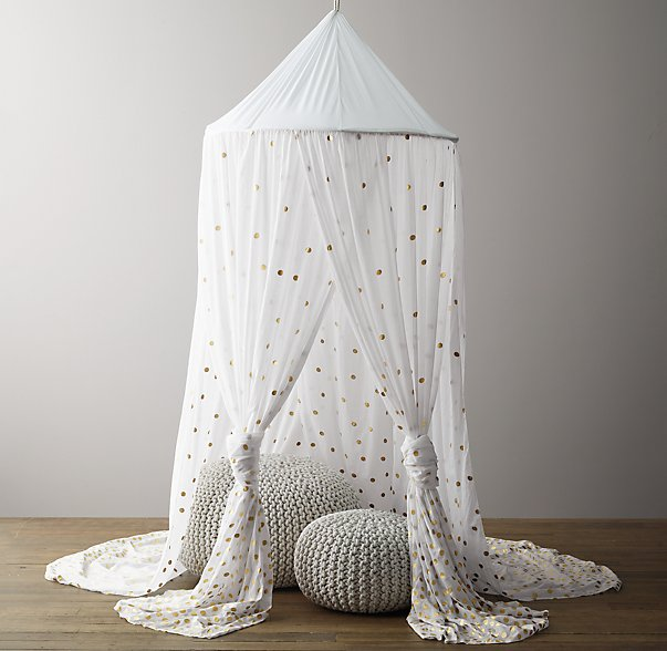 Metallic Printed Cotton Voile Play Canopy RH Baby & Child