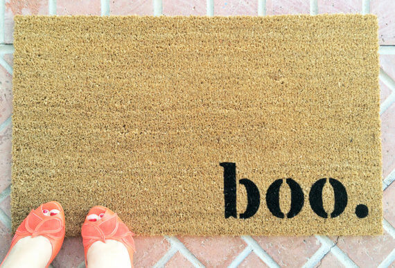 boo. doormat from NickelDesignsShop on Etsy
