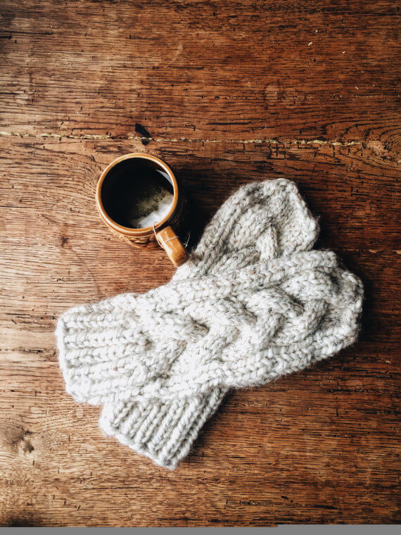 The Adaline // Cable knit, chunky wool mitten
