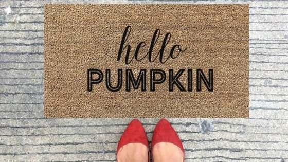 """Hello Pumpkin""  doormat from  5thandGraceCo  on Etsy"