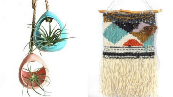 Left:  ceramics by JenF . I have the coral one and LOVE IT! Right:  woven tapestry  from PidgePidge