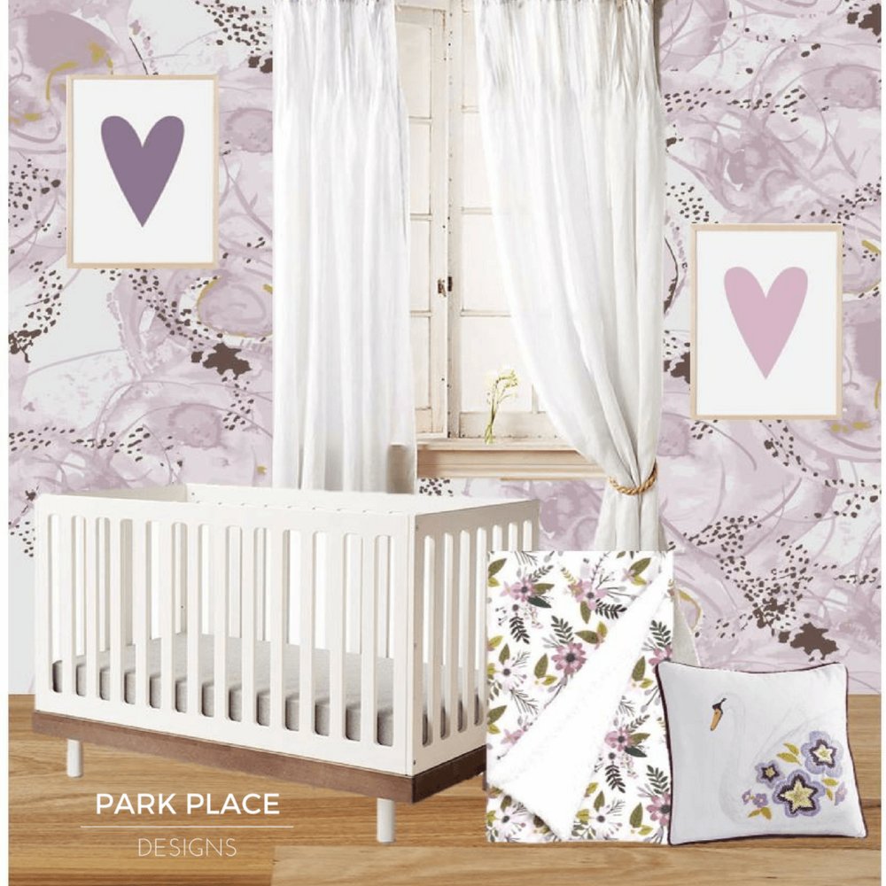 Wallpaper design by  Swatch and Repeat . Click photo for more  nurseries