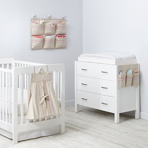 Pretty much all the diaper organization options you'll ever need pictured right here.  Hushaby collection from Land of Nod
